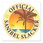 Sanibel Slacker - Square Car Magnet 3