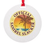 Sanibel Slacker - Round Ornament