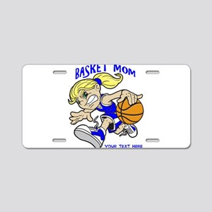 PERSONALIZED BASKET MOM Aluminum License Plate