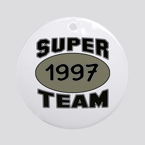 Super Team 1997 Round Ornament