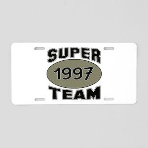 Super Team 1997 Aluminum License Plate