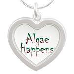 Algae Happens - Silver Heart Necklace