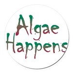 Algae Happens - Round Car Magnet