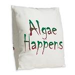 Algae Happens - Burlap Throw Pillow