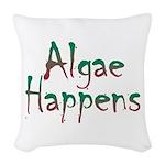 Algae Happens - Woven Throw Pillow
