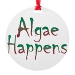 Algae Happens - Round Ornament
