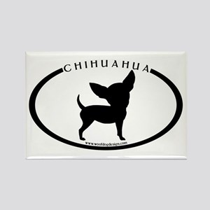 Funny Chihuahua w/text Rectangle Magnet