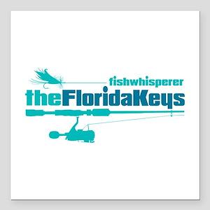 "fw Florida Keys Square Car Magnet 3"" x 3"""