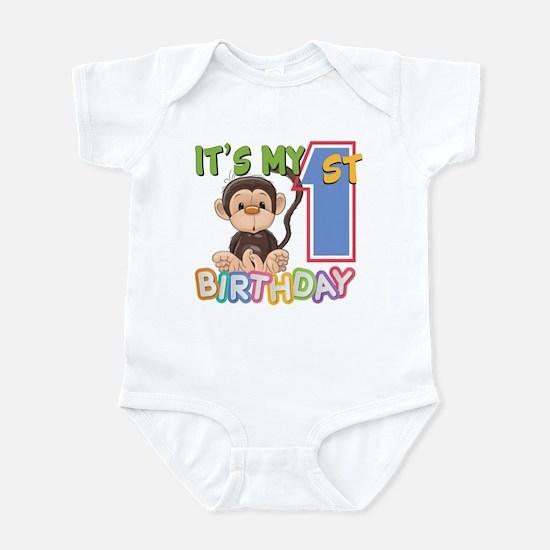 Monkey 1st Birthday Infant Bodysuit