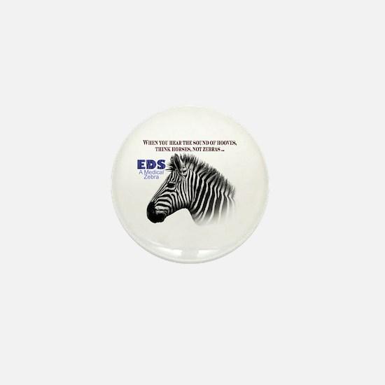 Cute Zebra stripes Mini Button