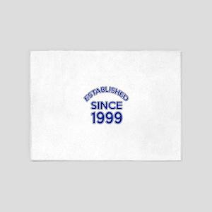 Established Since 1999 5'x7'Area Rug