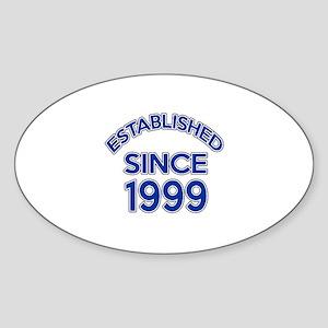 Established Since 1999 Sticker (Oval)