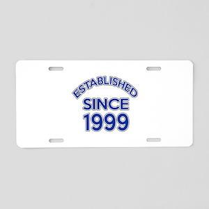 Established Since 1999 Aluminum License Plate