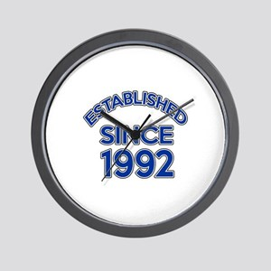 Established Since 1992 Wall Clock