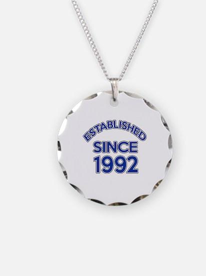 Established Since 1992 Necklace