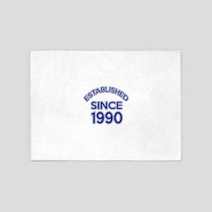 Established Since 1990 5'x7'Area Rug
