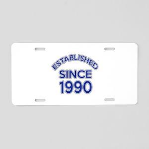 Established Since 1990 Aluminum License Plate