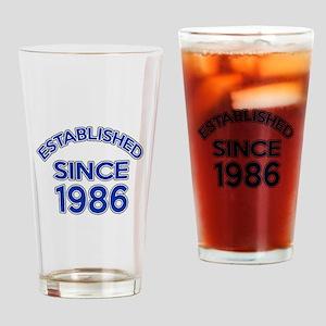 Established Since 1986 Drinking Glass