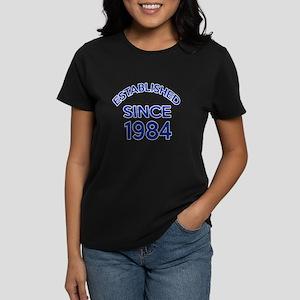Established Since 1984 Women's Dark T-Shirt