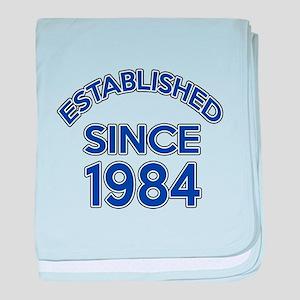 Established Since 1984 baby blanket