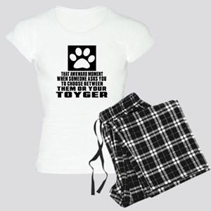 Awkward Toyger Cat Designs Women's Light Pajamas