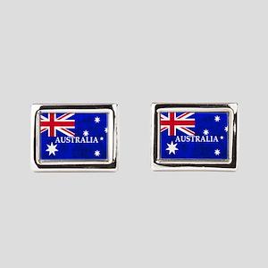 AUSTRALIAN FLAG Rectangular Cufflinks