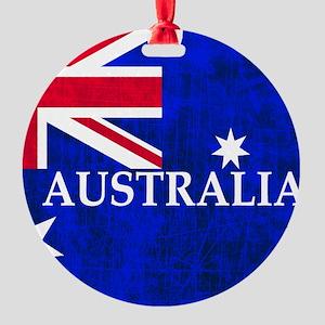 AUSTRALIAN FLAG Round Ornament