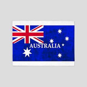 AUSTRALIAN FLAG 5'x7'Area Rug