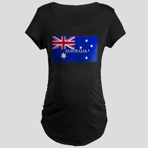 AUSTRALIAN FLAG Maternity T-Shirt
