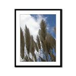 Pampas Grass and Sky - Framed Panel Print