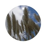 Pampas Grass and Sky Ornament (Round)