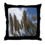 Pampas Grass and Sky Throw Pillow