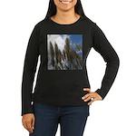 Pampas Grass and Sky Women's Long Sleeve Dark T-Sh
