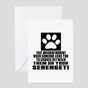 Awkward Serengeti Cat Designs Greeting Card