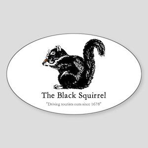 The Black Squirrel -- Oval Sticker