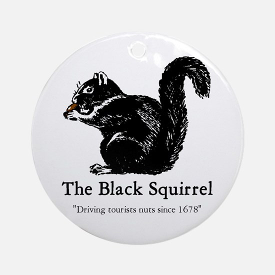 The Black Squirrel -- Ornament (Round)