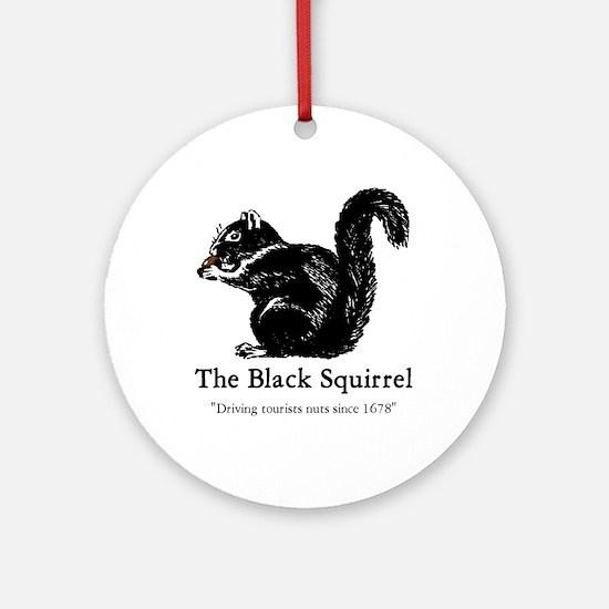 Black Squirrel Christmas Ornament  CafePress
