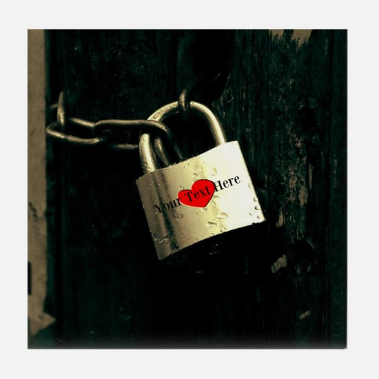 Personalized - Love Lock * Tile Coaster