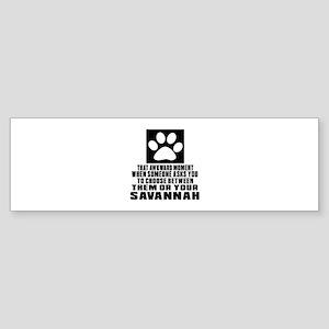 Awkward Savannah Cat Designs Sticker (Bumper)