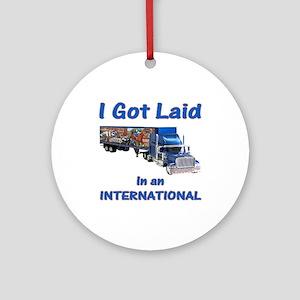 International Trucker Shirts Ornament (Round)