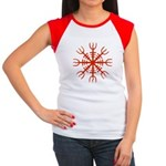 Red Aegishjalmur Women's Cap Sleeve T-Shirt