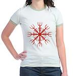 Red Aegishjalmur Jr. Ringer T-Shirt