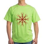 Red Aegishjalmur Green T-Shirt