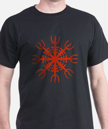 Red Aegishjalmur T-Shirt