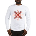 Red Aegishjalmur Long Sleeve T-Shirt