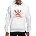 Red Aegishjalmur Hooded Sweatshirt