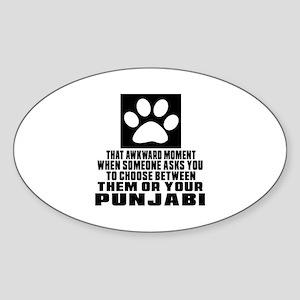 Awkward Punjabi Cat Designs Sticker (Oval)