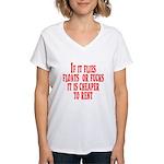 Cheaper To Rent Women's V-Neck T-Shirt
