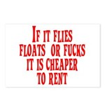 Cheaper To Rent Postcards (Package of 8)