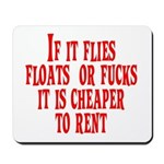Cheaper To Rent Mousepad